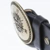 """Cintura realizzata in vero cuoio, interamente Made in Italy, con Fibbia in Ottone smaltato, decorazione """"Rosa dei Venti""""."""