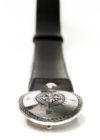 """Cintura realizzata in vero cuoio di Toro interamente Made in Italy, con Fibbia in Ottone argentato con decorazione """"Rosa dei Venti"""""""